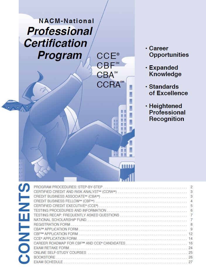The national association of credit management certification programs nacm brochures nacm professional certification program yadclub