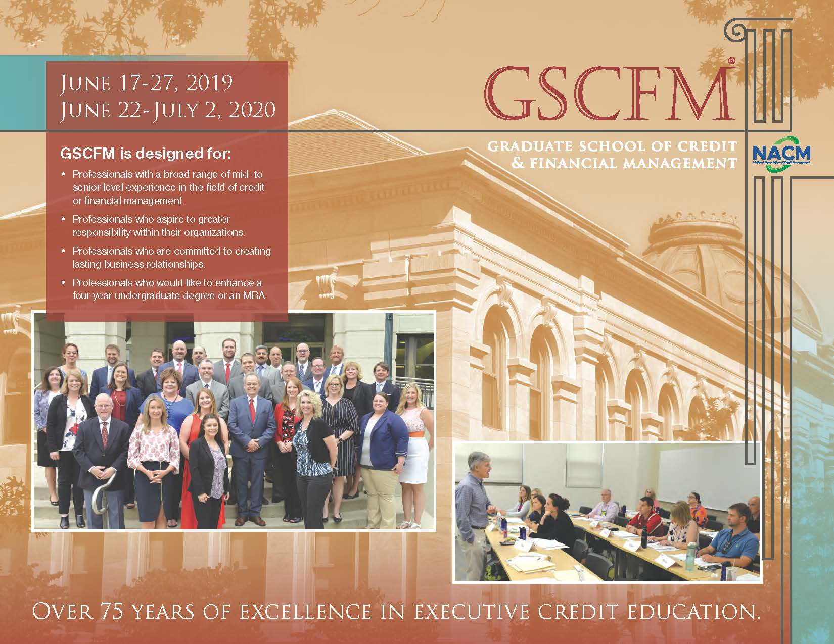 GSCFM  and GSCFMI Programs GSCFM Brochure 2018